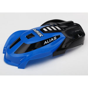 TRAXXAS CANOPY, ALIAS, BLUE/ SCREWS CANOPY, VIP (6612)