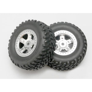 TRAXXAS TYRES AND WHEELS ASSY GLUED (7073)
