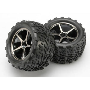 TRAXXAS TYRES AND WHEELS ASSY GLUED (7174A)