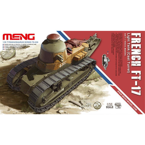 MENG French FT-17 (TS-008) - Hearns Hobbies Melbourne - MENG