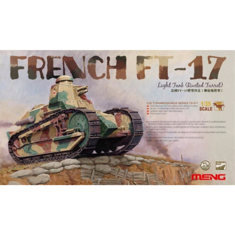 MENG French FT-17 Tank w/ Rivetted Turret (TS-011) - Hearns Hobbies Melbourne - MENG