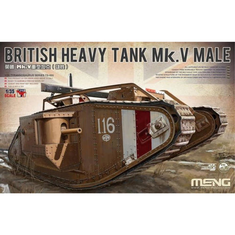 MENG 1/35 BRITISH HEAVY TANK MARK V MALE TS-020
