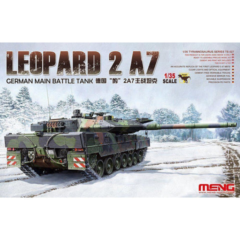 Meng 1/35 German Main Battle Tank Leopard 2 A7 (TS-027)