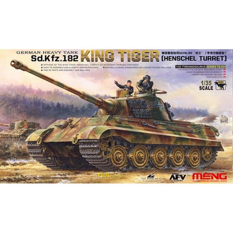 "MENG 1/35 German Heavy Tank Sd.Kfz.182 ""King Tiger"" (TS-031"