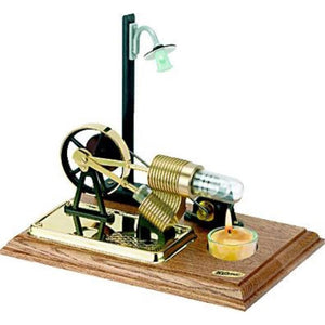 WILESCO H110 STERLING MOTOR WITH DYNAMO AND STREET LAMP, POWERED BY CANDLE - Hearns Hobbies Melbourne - WILESCO