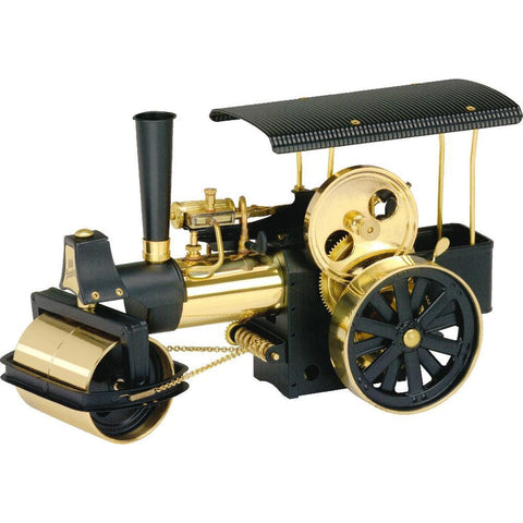 WILESCO D366 STEAMROLLER - BLACK AND BRASS