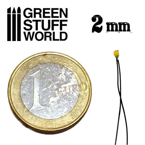 GREEN STUFF WORLD Micro LEDs - Warm White Lights - 2mm (080