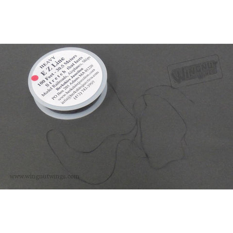 WINGNUT WINGS Heavy EZ Line Charcoal 0.20mm x 30.5m - easy to use rigging thread (WNW-00005)