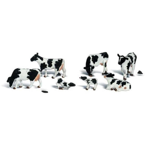 WOODLAND SCENICS HO HOLSTEIN COWS