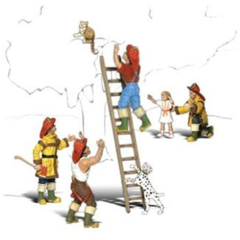 WOODLAND SCENICS HO Firemen To The Rescue