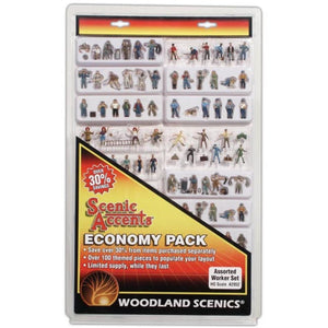WOODLAND SCENICS HO Assorted Workers Economy Pack