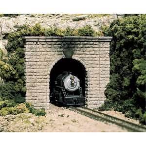 WOODLAND SCENICS HO Tunnel Portal Cut Stone Single 1ea