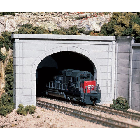 WOODLAND SCENICS HO Tunnel Port Concret Double 1ea - Hearns Hobbies Melbourne - WOODLAND SCENICS