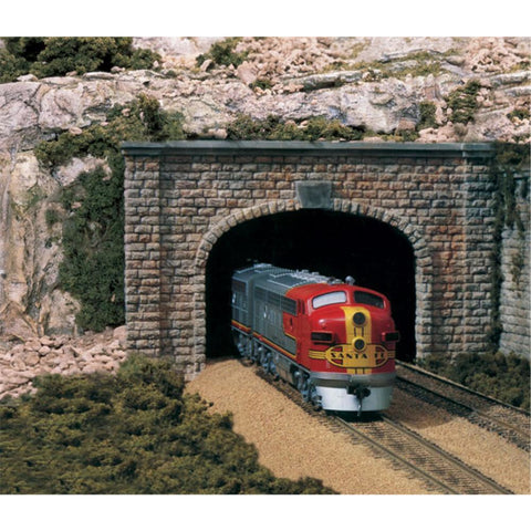 WOODLAND SCENICS HO Tunnel Port Cut Stn Double 1ea - Hearns Hobbies Melbourne - WOODLAND SCENICS