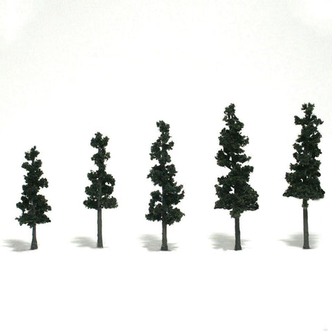 "WOODLAND SCENICS 2 1/2-4"" Rm Real Pine 5/Pk"