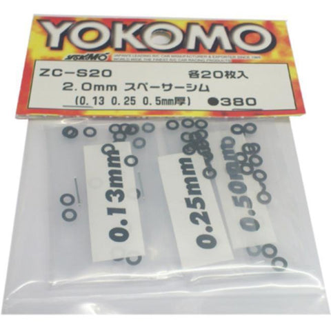 YOKOMO 2.5 Spacer (0.13/0.25/0.50) 20pcs.