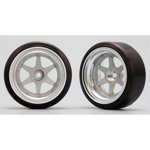 YOKOMO 6 Spoke Wheel (with 01R Tire) Off-set 12mm (ZR-DS14N)