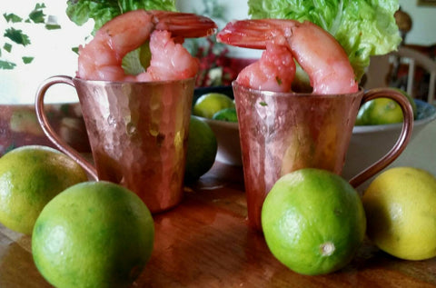 Texas Gulf Coast Shrimp Served in Moscow Mini-Mules