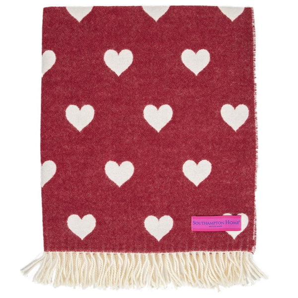 The gift of wellness is a gift of love.  Southampton Home Heart Baby Blanket