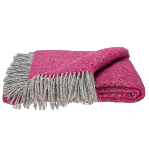 Southampton Home Wool Twill Throw Blanket (Hydrangea Pink)