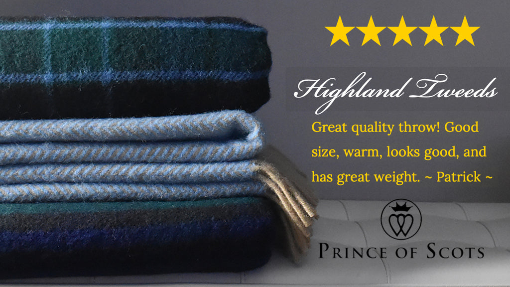 Prince of Scots Highland Tweeds 5-Star Rated