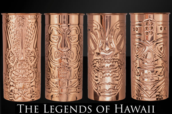 Prince of Scots the Legend of Hawaii Copper Tiki Mugs