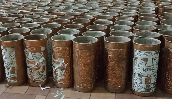 The Legend of Hawaii Copper Tiki Cup Hand Forged Production
