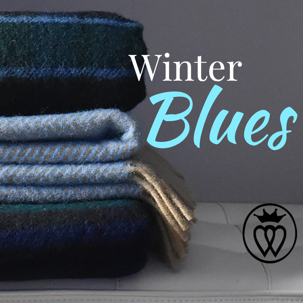 The Winter Blues: The 6 Best Blue Wool Blankets to Brighten Your Room.