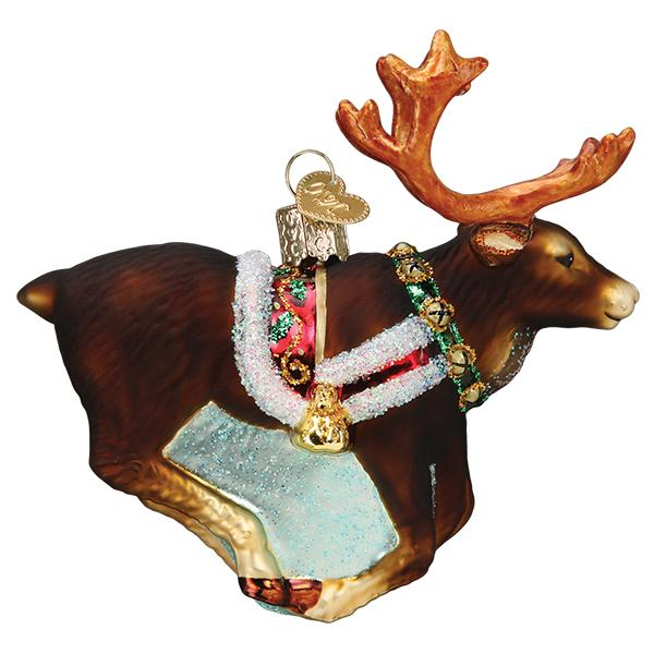 Flying Reindeer Ornament (Gift Boxed)