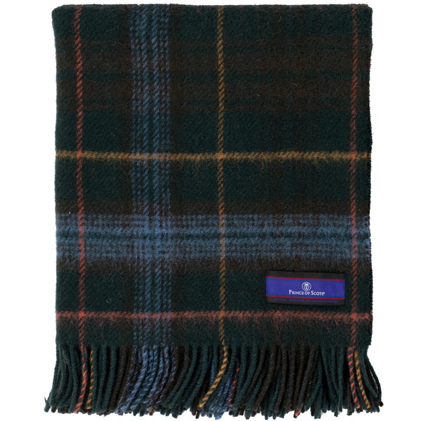 Prince of Scots Highland Tartan Tweed Lap Throw (Hunting Stewart)