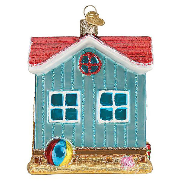 Beach Shack Ornament (Gift Boxed)-Christmas Ornaments-BeachShack-729343201126-Old World Christmas-Prince of Scots