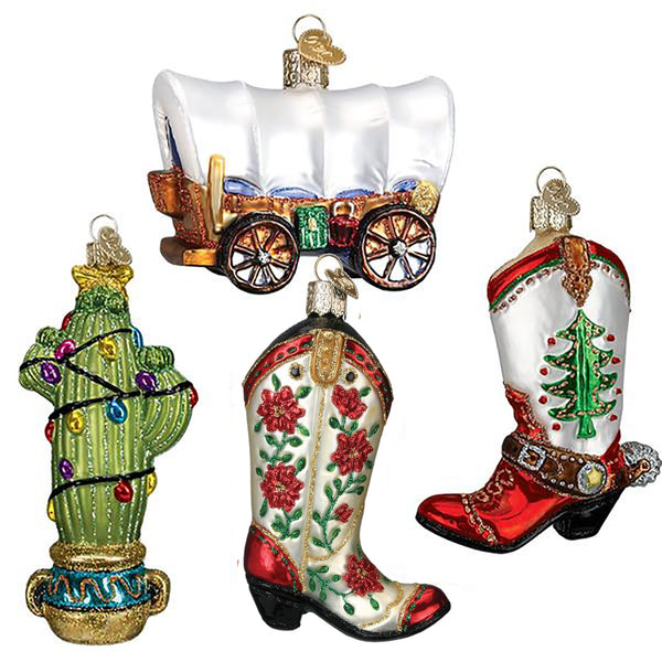Christmas in Texas 4 Ornament Gift Set-Home-Old World Christmas-TexasRange-634934461622-Prince of Scots