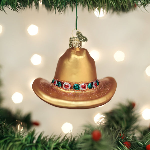 Cowboy Hat Ornament (Gift Boxed)-Home-CowboyHat-729343323545-Old World Christmas-Prince of Scots
