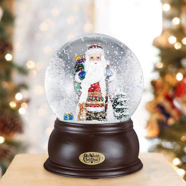 Fanciful Santa Musical Snow Globe-Christmas Ornaments-Old World Christmas-Prince of Scots