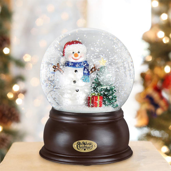 Happy Snowman Snow Globe-Christmas Ornaments-Old World Christmas-Prince of Scots