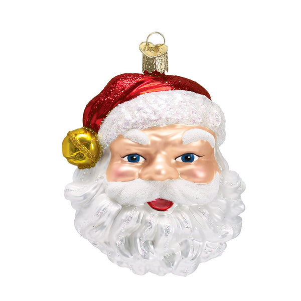 Jingle Bell Santa Ornament (Gift Boxed)-Christmas Ornaments-JingleSanta-729343400833-Old World Christmas-Prince of Scots