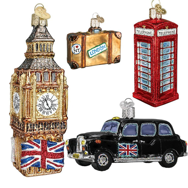 Limited Edition: London Christmas Ornament Collection Gift Box Set-Home-Old World Christmas-J405006-BritishSet-634934463398-Prince of Scots