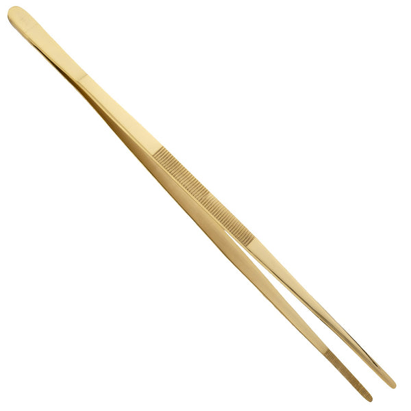 Prince of Scots Culinary/Bar Tweezers (24K Gold Plate)-Barware-Prince of Scots-810032751500, TweezerG-Prince of Scots