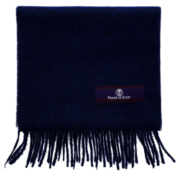 Prince of Scots Fringed Merino Wool Scarf (Royal)-scarf-Prince of Scots-PrinceRoyal-810032759803-Prince of Scots