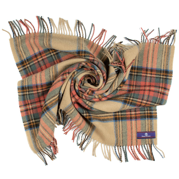 Prince of Scots Highland Tartan Tweed Lap Throw (Antique Dress Stewart)-Throws and Blankets-Prince of Scots-Prince of Scots