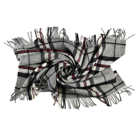 Prince of Scots Highland Tweed Wool Lap/Shoulder Throw (Grey Thompson)-Throws and Blankets-Prince of Scots-810032752002-J4050038-002-Prince of Scots