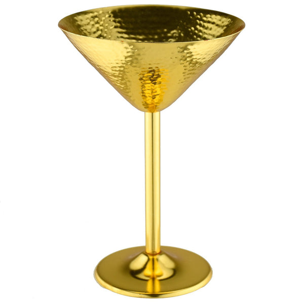 Prince of Scots Martini Glass ~ Hammered Gold-Barware-Prince of Scots-One-Prince of Scots