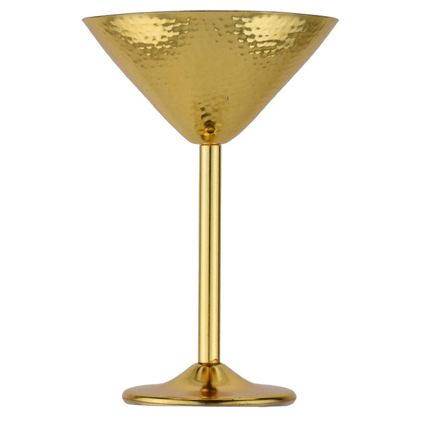 Prince of Scots Martini Glass ~ Hammered Gold-Barware-Prince of Scots-Prince of Scots