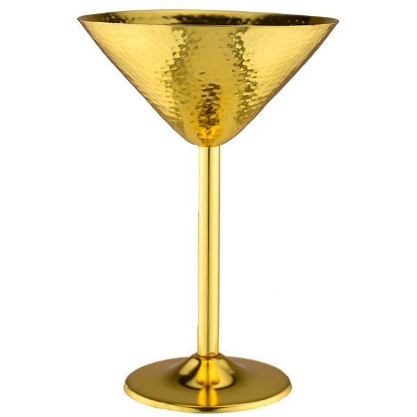 Prince of Scots Martini Glass ~ Hammered Gold-Barware-Prince of Scots-Set of 2-Prince of Scots