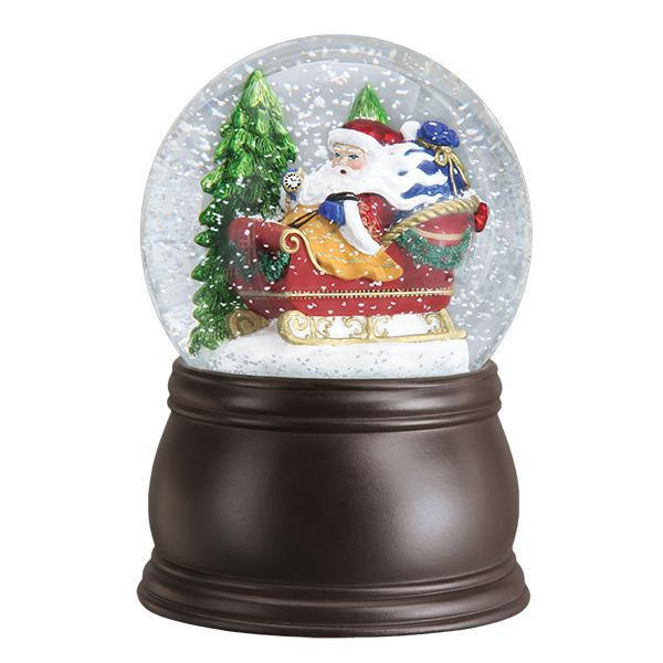 Santa In Sleigh Snow Globe-Christmas Ornaments-SantaSleighGlobe-729343540140-Old World Christmas-Prince of Scots