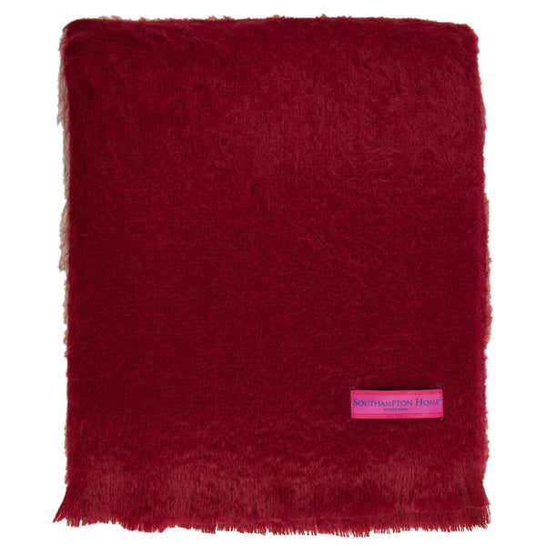 SOUTHAMPTON HOME Americana Collection (Red Mohair)-Throws and Blankets-Prince of Scots-, Q350003-Prince of Scots