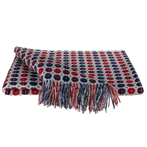 SOUTHAMPTON HOME Americana Collection (Red/Blue Geometric)-Throws and Blankets-Prince of Scots-, Q350001-Prince of Scots