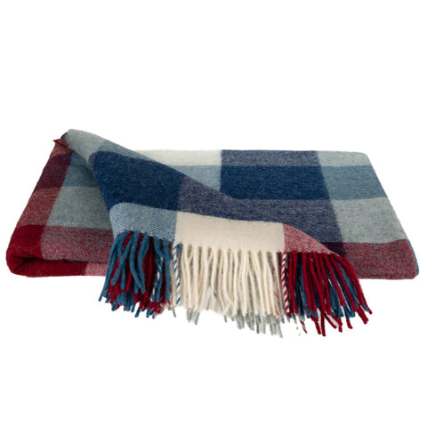 SOUTHAMPTON HOME Americana Collection (Red/Blue Herringbone)-Throws and Blankets-Prince of Scots-Q350002-Prince of Scots
