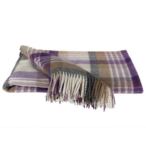 SOUTHAMPTON HOME Town and Country Tartan (Beach Plum)-Throws and Blankets-Prince of Scots-, Q340001-Prince of Scots