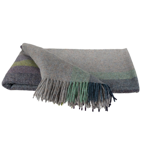 SOUTHAMPTON HOME Town & Country Stripe (Vineyard)-Throws and Blankets-Prince of Scots-, Q320004-Prince of Scots